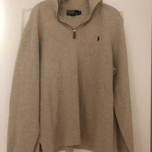 Tan Ralph Lauren Half Zip Pullover